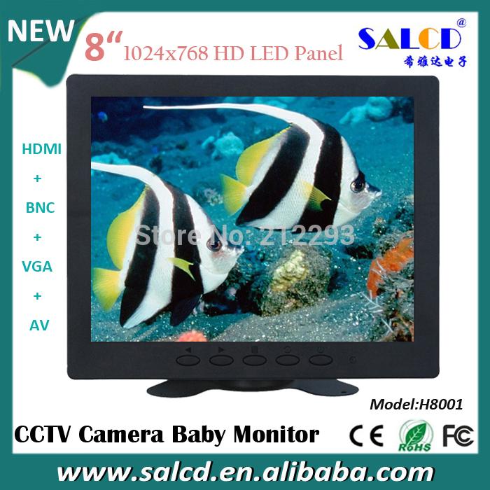 hot sale ! 8 inch baby monitors with hdmi vga rca bnc input for medical care +1080p HDMI(China (Mainland))