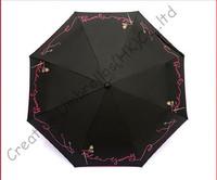 5 times black coating,100%sunscreen,UPF>50+,parasol,8k ribs,three fold auto open&auto close umbrellas,windproof,black,pocket