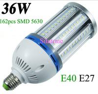 E40 E27 36w led corn light 60w led corn street light 36w led corn bulb ac85-265v162pcs smd5630 360 degree 2 years warranty