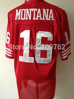 San francisco 16 joe montana jersey joe montana throwback jersey 80 jerry rice jersey  ronnie lott jersey wholesale free ship