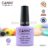 Free Shipping! Canni Soak Off UV LED Nail Color Gel Polish (40pcs color gel+1pc base +1pc top coat) 42Pcs/lot