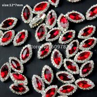 Free Shipping 50pcs/bag 3D nail art women nail alloy decoration red nail Rhinestone Decoration