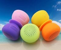 mini Bluetooth Speaker MIC Voice Box Mushroom Speakers Silicone Sucker Waterproof for iPhone iPad Samsung DHL ZKT