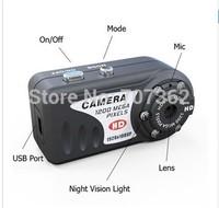 DHL Free Shipping T8000 HD 1080P 1920X1080  IR Night Vision Q5 Metal small Camera  with 30pcs/lot