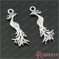 Wholesale 31*11mm Antique Silver Phoenix Bird Alloy Charms Pendants Diy Jewelry Findings Accessories 20 pieces(JM6604)