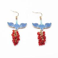 Ms Atmospheric Luxury Round Pearl Pendant Earrings