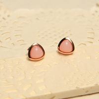 Wonderland Original design opal earrings 925 pure silver 18k rose gold gemstone opal stud earring