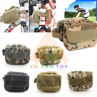 Cycling Mountain Road MTB Bicycle Frame Saddle Bag Pannier Front Tube Bags Double Sides with Molle System and Velcro