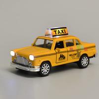 Nostalgic alloy car model antique toy webworm taxi mirada taxi acoustooptical open the door