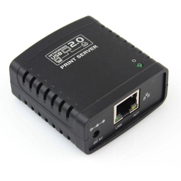 USB 2.0 LRP Print Server Share a LAN Networking USB Printer Ethernet Adapter Wireless Network(China (Mainland))