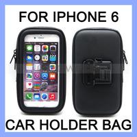 Waterproof Zipper Case for iPhone 6 Car Holder Pouch Bag Case