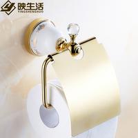 Fashion gold bathroom towel rack toilet paper holder toilet paper box ceramic tissue box paper holder