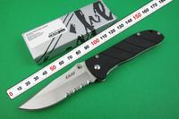 LAND 907 SANRENMU G10 Handle 3R15MOV 56HRC Coating Gray Titanium Blade Camping Tool Tactical Folding Pocket Knife Free shipping