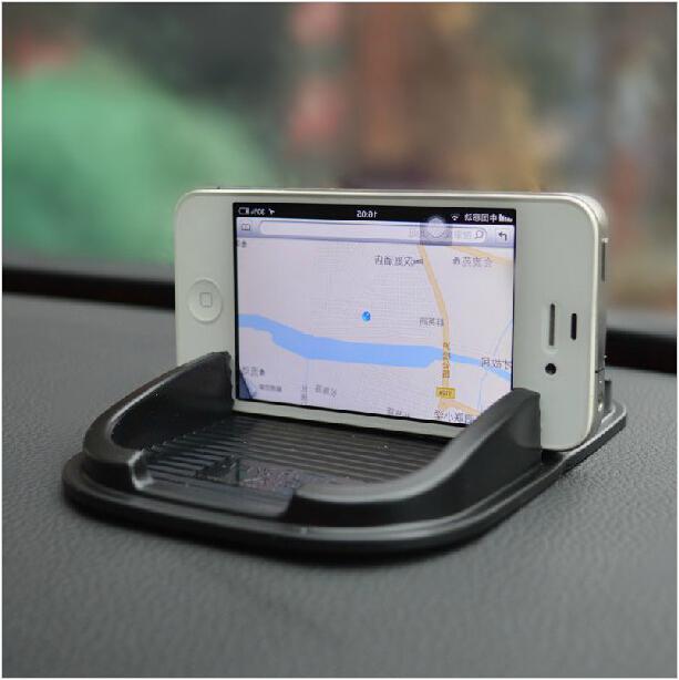 Black car phone holder Dashboard Sticky Pad Mat Anti Gadget Mobile phone GPS Interior Items Anti Non slip mat(China (Mainland))