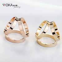 Trio Scarf Ring Buckle Gold 2pcs/lot Wholesale with Gift Box Fashion Scarf Jewelry Women Scarf Free Shipping