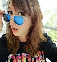 NEWS fashion summer Men's fashion sunglasses retro wave of people transparent reflective mirror sunglasses HYL173
