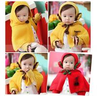 Warm Winter Children's Hats Baby Wool Scarves Gloves Cute Cloak Unisex Baby Cap