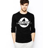 Free Shipping Burton T Shirts Men Cotton O Neck Man Tees Casual Style Long Sleeve Clothing Euro Size