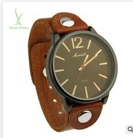 014 Hot Sell Vintage Watch Fashion Quartz Unisex Wristwatch with Leather Strap for Women Men