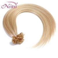 "New 100% Brazilian Pre Bonded  Hair Fusion Glue U Tip  Nail  Straight Hair Extension 18"" 20"" color  2015"