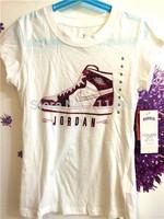 NEW Sell Jordan shoes style children kids girl's short sleeve t shirt summer tops tees girl's t shirt ,free shipping