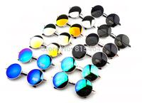 Metal Earstem UV vintage women outdoors sunglasses round shape,summer fashion female designer brand glasses