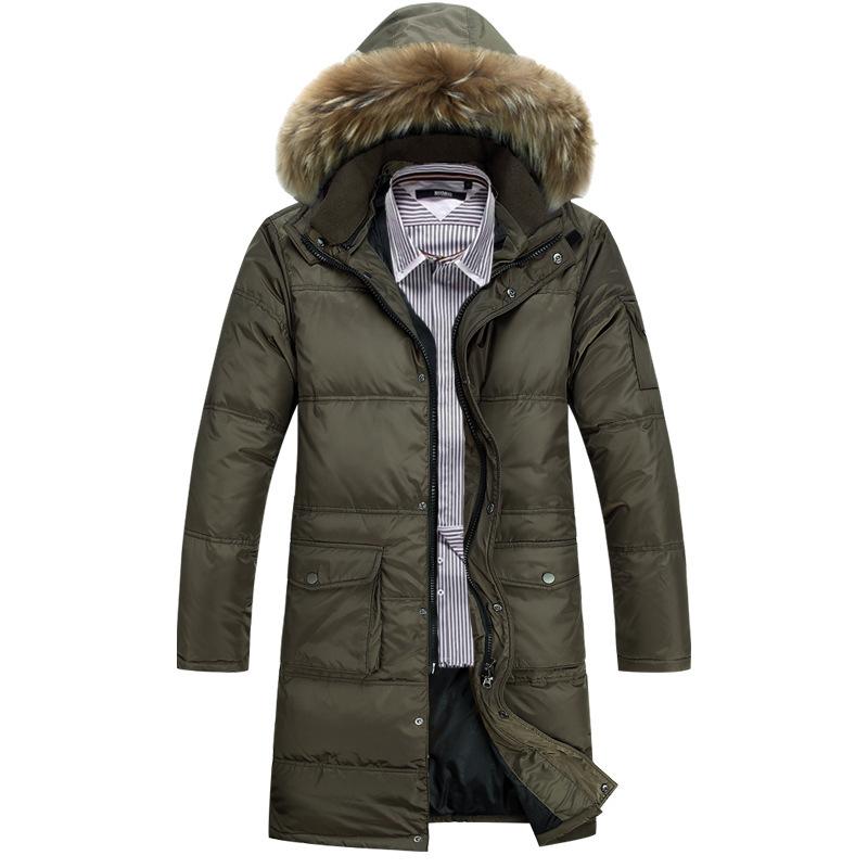New Arrival Men Winter Parka Down Coat Long Down Coat Hooded Coat MWY135(China (Mainland))