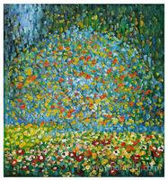 Gustav Klimt Oil Paintings Reproductions Apple Tree I Oil Paintings on Canvas Handmade