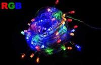 1pc/lot 10M 100LED Christmas Fastival String Light AC 110V/220V Garland lamps for wedding partying xmas christmas