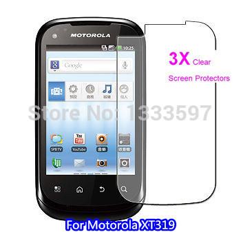 3x Protective Clear Screen Protector Film for Motorola XT319 - Display Savers(China (Mainland))