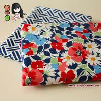 100% cotton fabric summer cottage flower set 150cm width