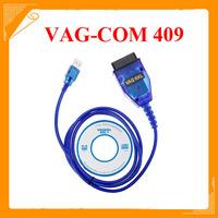 2014 Vag 409 VAG-COM 409.1 Vag Com 409.1 KKL OBD2 USB Cable Scanner Scan Tool Interface For Adi VW Kia Free Shipping