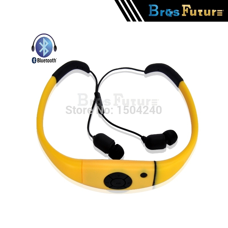 hot waterproof fone de ouvido wireless bluetooth headset sport earphone swim shower stereo. Black Bedroom Furniture Sets. Home Design Ideas