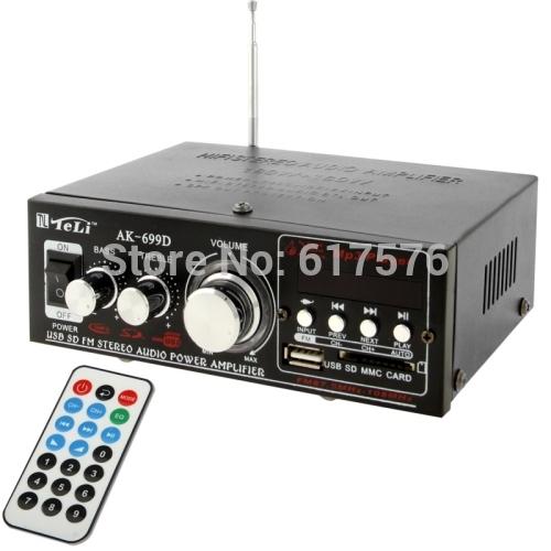 Mini HiFi preto 12 V 180 W x 2 MP3 Car Auto Motor barco Home Audio Stereo amplificador de alto-falante de graves BOOSTRER verstärker veículo(China (Mainland))