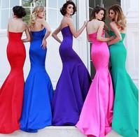 2014 Women Evening Dress Long Party Mermaid Prom Sexy Dress vestido de festa vestidos femininos Wedding Dress vestidos longos
