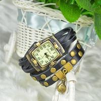 New Hot Sale Original High Quality Women Genuine Leather Vintage Watches Bracelet Wristwatches moneybag pendent