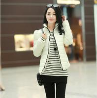 5 COLOR 2014 Fashion Ladies Coat winter jacket new Slim Down Zipper Outerwear Short Jacket free shipping White Yellow Black