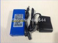 Free DHL   shipping  100pcs/lot  Super Polymer Rechargeable 12V 4800mAh li-ion Battery Large Capacity DC12V+Charger
