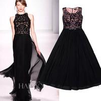 Hot Sale European Style Women Sexy Long Dresses Beading Evening Party Maxi Dresses Black Femininos Ropas Free Shipping WB1525