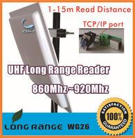 UHF RFID integrated long range reader 15M  TCP/IP ethernet port +RS232+Wiegand +Free sdk+Free 5pcs cards