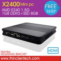 Super Cheap HTPC Home Computer Mini PC Windows XP OS AMD E240 1.5GHz,USB 1GB RAM 8GB SSD