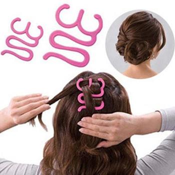 Волос плетение инструмент ролика с крючком твист магия для укладки волос чайник HDR-011932