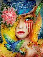 Cartoon Girl Diy Diamond painting girl  30x40cm decorative painting handwork resinstone square full diamond painting unfinish