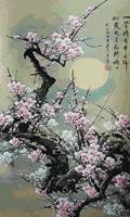 Plum Blossom Scenery 45x75cm Diamond Painting Full Resin Drill Round Diamond Painting Rhinestone Pasted Cross Stitch Embroidery