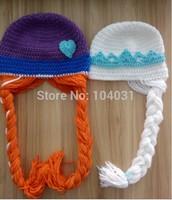 Hot sale crochet frozen elsa hat ,anna hat ,olaf hat ,cartoon baby girls crochet baby frozen hat