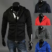 2014  new fashion overcoat  men casual slim fit  zipper jackets coat S-XXL