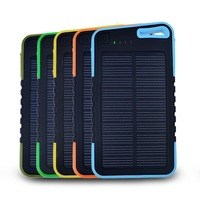 2015 Original Design MOKO Solar Charger 5000mah Portable Waterproof Solar Charger For Mobile Phone Solar Power Bank