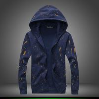 Men  Add  wool  Hooded   Zipper Sweatshirts  jacket   Leisure coat  Free-shipping New 2014 warm  winter