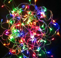 Hot!110v/220V Led String Christmas Lights 10m 100 led With 8 color chioce for Holiday/Party/Decoration 150pcs/lot Free Shipping