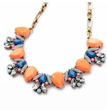 New High Quality Jewelry Fashion 3 Colors Gem Vintage Statement Necklace 2014 Chokers Necklaces Pendants Wholesale